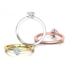 Zásnubný prsteň biele zlato s brliantom 0060