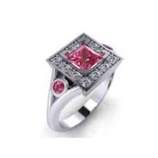Zásnubný prsteň biele zlato s brilantom 141