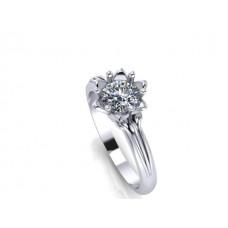 Zásnubný prsteň biele zlato s brilantom 142