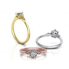 Zásnubný prsteň biele zlato s brliantom 0061