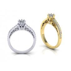 Zásnubný prsteň biele zlato s brliantom 0071