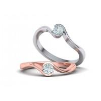 Zásnubný prsteň biele zlato s brliantom 0072