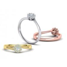 Zásnubný prsteň biele zlato s brliantom 0063