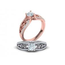 Zásnubný prsteň biele zlato s brliantom 0064