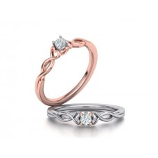 Zásnubný prsteň biele zlato s brliantom 0058