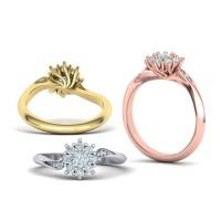 Zásnubný prsteň biele zlato s brliantom 0076