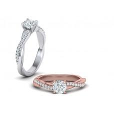 Zásnubný prsteň biele zlato s brliantom 0077