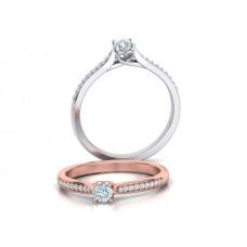 Zásnubný prsteň biele zlato s brliantom 0065