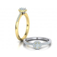 Zásnubný prsteň biele zlato s brliantom 0079