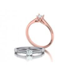 Zásnubný prsteň biele zlato s brliantom 0059