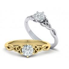 Zásnubný prsteň biele zlato s brliantom 0068