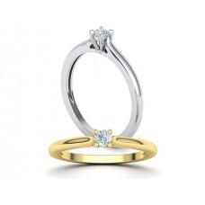 Zásnubný prsteň biele zlato s brliantom 0067
