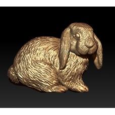 prívesok roztomilý zajačik  zlte zlato 0007