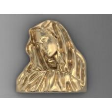 prívesok panenka Mária zlte zlato 0002