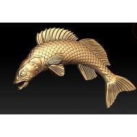 prívesok ryba zubač zlte zlato  0006