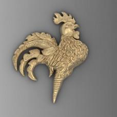 prívesok kohúta zlte zlato  0009