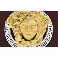 prívesok hlava medúzy kombinovane zlato  0017