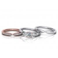 Zásnubný prsteň biele zlato s brliantom 0081