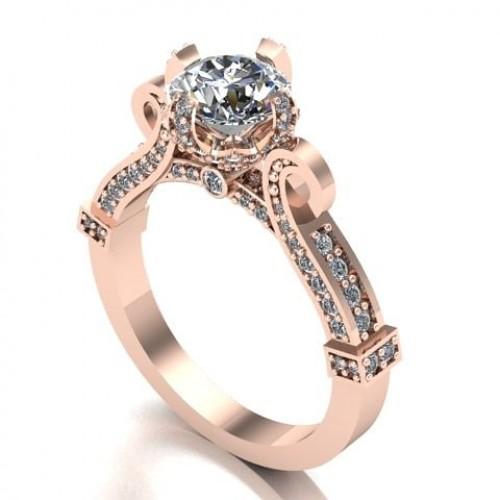 e2bd78d0c Zásnubný prsteň ruzove zlato s briliantom 138